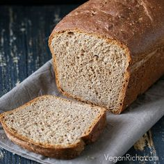 Rye Almond Sandwich Bread...Vegan Richa