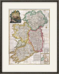 Ireland map print map vintage old maps by VictorianWallDecor, $20.00