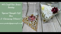 #6 Craft Fair Series Sunday Tapered Triangle Gift Box & Giveaway Winner!! - YouTube