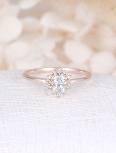 Vintage engagement ring Oval Moissanite engagement ring rose gold diamond halo wedding Jewelry Anniversary Valentine's Day Gift for women by NyFineJewelry on Etsy Wedding Rings Vintage, Vintage Engagement Rings, Wedding Jewelry, Gold Wedding, Wedding Bands, Trendy Wedding, Dream Wedding, Engagement Jewellery, Engagement Couple