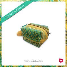 Necessaire Box Geométrica Amarela Limited Edition R$30.00