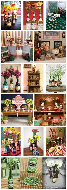 decoração_cerveja_beer Party Decoration, Wedding Decorations, Table Decorations, Havana Nights Party, Italian Party, Pasta Bar, Holiday Parties, Holiday Decor, Ideas Para Fiestas
