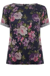 Floral Sweat T-Shirt - Oasis