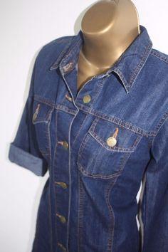 Classic Denim Mini Shirt Dress Long Sleeved Blue Size UK 8 Womens Vintage Retro Mini Shirt Dress, Long Sleeve Shirt Dress, Dress Long, Denim Button Up, Button Up Shirts, Denim Dresses, Retro Outfits, Retro Vintage, Clothes For Women