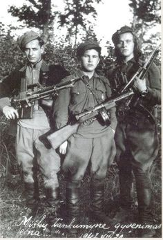 The average age of the Lithuanian partisan was just twenty...farm boys and students mostly from rural villages and the universities