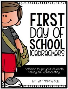 Create an engaging and collaborative classroom environment for your students on the first day of school with these fun icebreaker activities. School Icebreakers, Icebreaker Activities, Kindergarten Activities, Classroom Activities, Kindergarten Class, Preschool, All About Me Activities, First Day Of School Activities, Beginning Of The School Year
