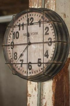 Metal New York Subway Clock: Adds rustic flair to any vintage styled home. Make it look like you're traveling back in time! #Vintage #ExpensiveHomeDecor #UnusualClocks