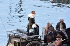 ***Spoiler Alert: If you have not read Drums of Autumn or you just don't want to be spoiled about this period of the show, it is best to skip this post!*** Filming finally started in Dunure for Out…
