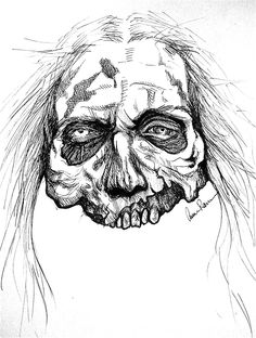 ✖zombie head✖ You always need to be prepared for. - draw✖zombie head✖ You always need to be prepared for. Zombie Drawings, Scary Drawings, Dark Art Drawings, Halloween Drawings, Art Drawings Sketches, Arte Zombie, Zombie Art, Zombie Illustration, Arte Black