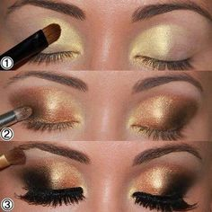beautiful gold eye shadow
