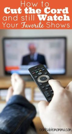 Have you thought about lowering your monthly TV service bill by cutting the cord (closing your cable or satellite TV account)? Just because you cut the cord doesn't mean you can't still watch your favorite TV shows. Find out how to save money by watchin Ways To Save Money, Money Tips, Money Saving Tips, How To Make Money, Frugal Living Tips, Frugal Tips, Cable Tv Alternatives, Tv Options, Cable Options