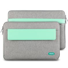 ULAK Inch MacBook Air / MacBook Pro Retina / MacBook Sleeve Bag Briefcase Laptop Bag Tablet PC Carrying Case, Compatible with Most Ultrabook Netbook (Grey+Mint Green) Macbook Pro 13 Inch, Macbook Laptop, Macbook Pro Case, Macbook Pro Retina, Laptop Briefcase, Laptop Bag, Laptop Cases, Laptop Accessories, Mint Green