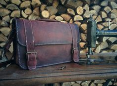 Reddish Brown Leather Satchel / Antiqued by TransylvanianMonk