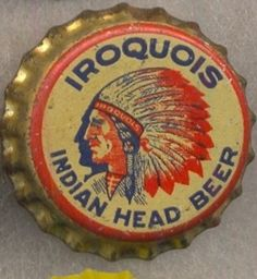 Iroquois Indians Head Beer bottle cap | Buffalo, New York USA | cap used 1933-1939