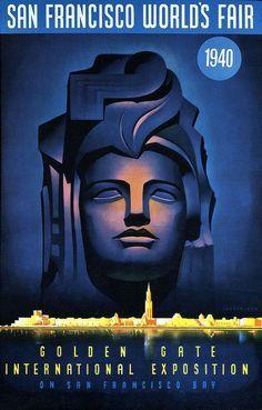 SF Worlds Fair Art Deco Poster