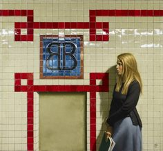 Waiting For the Train - Brooklyn Bridge by Daniel Greene