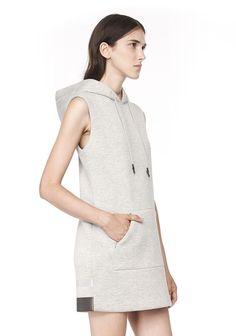∞ hooded scuba dress w/ reflective stripes. t by alexander wang
