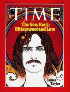Illustration of James Taylor on the cover of Time magazine, March 1971.