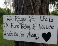 memorial for loved ones at a wedding - Google Search