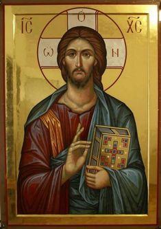 Whispers of an Immortalist: Icons of Jesus Christ 5 Images Of Christ, Religious Images, Religious Icons, Religious Art, Byzantine Icons, Byzantine Art, Christ Pantocrator, Greek Icons, Jesus Christus