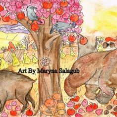 Autumn equinox sunchildren book illustration