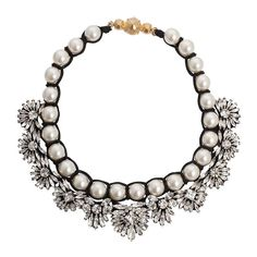 The ultimate classic accessories combination has got to be diamonds and pearls. For a contemporary take, the Shourouk Fawcett has it all using a pretty mix of swarovski and pearls this is a classic statement piece to wear time and again.