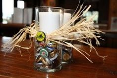 40th Birthday Themes, Party Themes, Candle Holders, Beer, Candles, Table Decorations, Home Decor, Parties, Root Beer