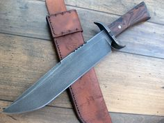 NeoTribal Bowie: bronze guard and pommel, ironwood, antique 5160