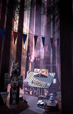 Gravity Falls Concept Art || One of my new favorite shows!