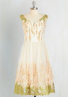 A Love that Grows Dress. Learn what limitless love feels like the moment you slip into this elegant ivory dress by Chi Chi London. #cream #prom #modcloth