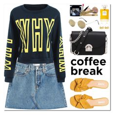 """""""Coffee Break"""" by oshint ❤ liked on Polyvore featuring RE/DONE and Chanel"""