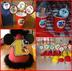 Super cute idea for a birthday hat with Mickey ears.
