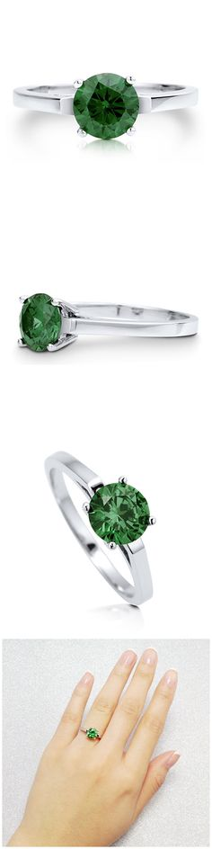 Sterling Silver Round CZ Solitaire Engagement Wedding Ring