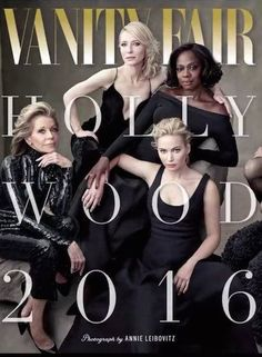 21st Century Hollywood. This iconic Vanity Fair 2.0 cover, February 2016, is reminiscent of the glamorous photo shoots, for which the magazine originally because famous. Bravo --it's about time. Photo by Annie Liebovitz.