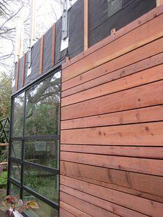 redwood siding - rainscreen