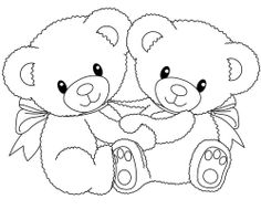 Two Bear A Hug Coloring Page