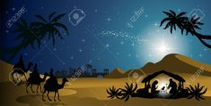 Nativity Silhouettes nativity scene with the Holy Family and the Magi of oriental landscape-transparency blending effects and gradient Created: GraphicsFilesIncluded: VectorEPS Layered: No MinimumAdobeCSVersion: CS Tags: bethlehem Nightmare Before Christmas, Christmas Stage Design, Playroom Mural, Country Backgrounds, Christmas Desktop, Nativity Silhouette, Star Of Bethlehem, Christian Christmas, Christmas Nativity