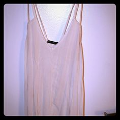 Brandy Melville dress White see through dress from Brandy! Hits above the knee/ Perfect over a bathing suit or with a slip or sweater! Would fit medium/large/xl Brandy Melville Dresses Midi