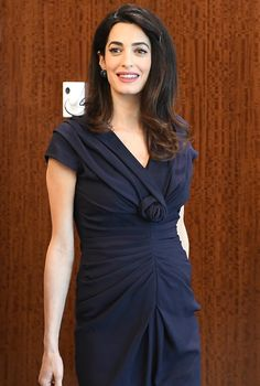 Amal Clooney's Fashionable Maternity Style - March 10, 2017 from InStyle.com