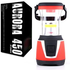 Internova Aurora 450 - 360 Degree Duel Colored LED Camping and Emergency Lantern - Backpacking - Hiking - Auto - Home - College (Sunset Red) * Check this awesome product by going to the link at the image.