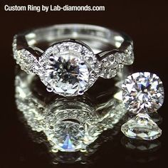 The holidays are coming which makes for the perfect time to propose, and what better way than a custom engagement ring from Lab-Diamonds.com! Work with our Design Specialists to design a ring that shows off the love you share with each other and the commitment you have to your future! To start the design process visit http://www.lab-diamonds.com/custom-rings.html #customrings #holidays #christmasiscoming #perfectproposal #engagementring #christmasgift