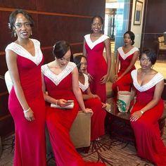 bridesmaid dresses,2017 bridesmaid dresses,red bridesmaid dresses,v-neck wedding party dresses,long bridesmaid dresses,colorful bridesmaid dresses,fashion,woemn 's fashion,vestidos
