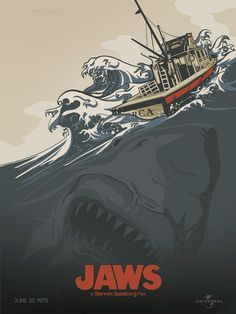 Cartel alternativo #Tiburón #Jaws