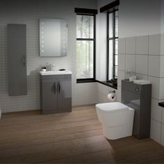 Keep your cool with the smooth touch of the Memoir furniture range in High Gloss Grey. With a choice of wall hung and floor standing units, as well as a matching back to wall WC, simply choose the right units for you. All units are provided with a handle as standard, with a choice of two basin options to complete the look.