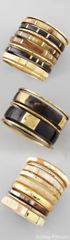 Ashley Pittman Natural Horn Bracelets