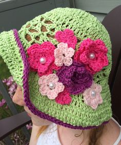 A personal favorite from my Etsy shop https://www.etsy.com/ca/listing/295119455/crochet-ladies-sun-hat
