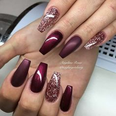 >>>Cheap Sale OFF! >>>Visit>> Having stunning look is an important part of red dark nail art design. You must not go with such red dark nail art design which will not stunning. so going with these designs will be the best decision. Cute Acrylic Nails, Matte Nails, Gel Nails, Gel Manicures, Matte Gold, Coffin Nails, Matte Maroon Nails, Bronze Nails, Stiletto Nails