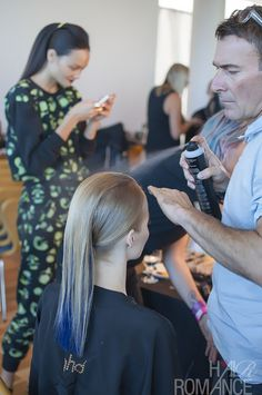 Alan White in action - Behind the scenes with ghd at Lisa Ho at Australian Fashion Week