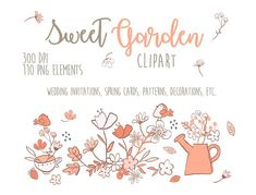 Clip art Sweet Garden Photo Overlays Wedding Clip art