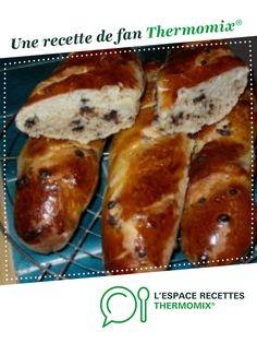 Pain viennois aux pépites de chocolat par monik74. Une recette de fan à retrouver dans la catégorie Pains & Viennoiseries sur www.espace-recettes.fr, de Thermomix<sup>®</sup>.